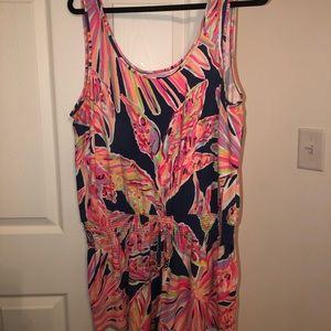 Lilly Pulitzer XL Tala romper in Indigo Sunseekers